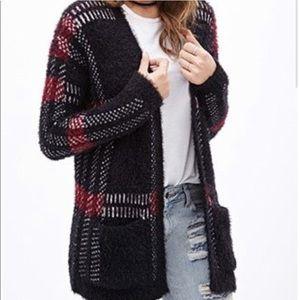 Forever 21 super soft plaid cardigan sweater